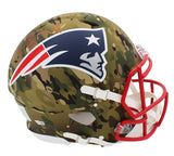 Tom Brady Signed New England Patriots Speed Authentic Camo NFL Helmet