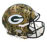 Brett Favre Signed Green Bay Packers Speed Authentic Camo NFL Helmet
