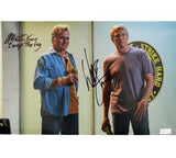 Martin Kove & William Zabka Signed Cobra Kai Unframed 11×17 Photo with 2 Inscriptions