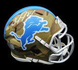 Calvin Johnson Signed Detroit Lions Speed Camo NFL Mini Helmet