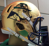 Notre Dame Fighting Irish 2015 SHAMROCK Series HydroFX Revolution Speed Authentic Full Size Boston - Helmet - SPORTSCRACK - 1
