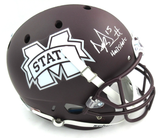 "Dak Prescott Signed Mississippi State Bulldogs Schutt Full Size Helmet With ""Hail State"" Inscription"