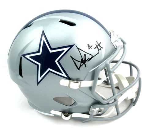 Dak Prescott Signed Dallas Cowboys Riddell Speed Full Size Helmet
