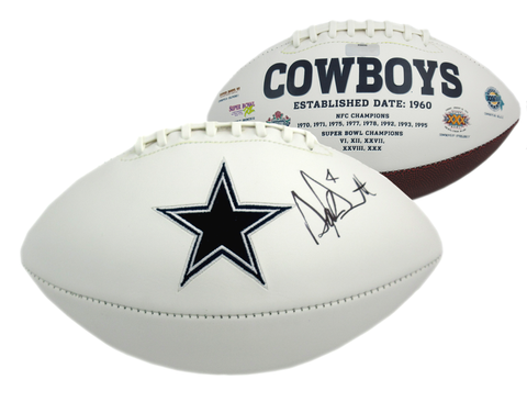 Dak Prescott Signed Dallas Cowboys Embroidered Logo Football