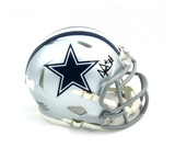 Dak Prescott Signed Dallas Cowboys Riddell Speed Mini Helmet