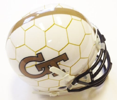 Georgia Tech Yellow Jackets Honeycomb Schutt Mini Helmet