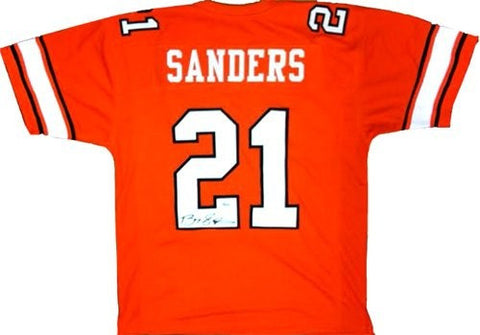 Barry Sanders Signed Oklahoma State Cowboys Custom NCAA Jersey