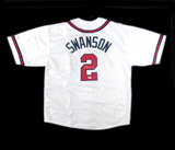 Dansby Swanson Signed Atlanta Braves MLB White Custom Jersey