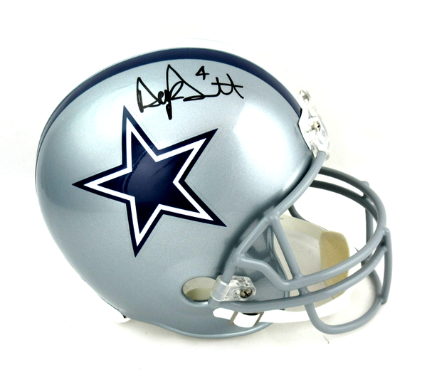 Dak Prescott Signed Dallas Cowboys Riddell Full Size Helmet