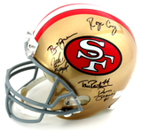 San Francisco 49ers Riddell Full Size NFL Helmet Signed By 14 Legends Including Montana, Rice, & Young