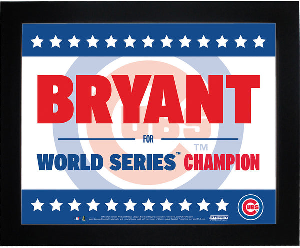 Kris Bryant Chicago Cubs 11x14 Framed Presidential Sign