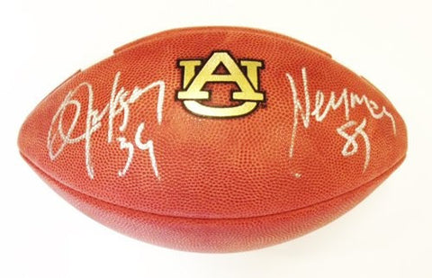 Bo Jackson Autographed Official NCAA Game Model Day Auburn Tigers Wilson Football - Memorabilia - SPORTSCRACK - 1