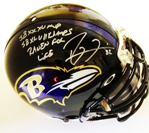 Ray Lewis Signed Authentic Pro Baltimore Ravens Helmet Limited Edition Of 52 W/Mask Visor - Memorabilia - SPORTSCRACK - 1