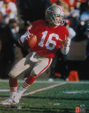 "Joe Montana Autographed/Signed San Francisco 49ers 16x20 NFL Photo ""Drop Back"""