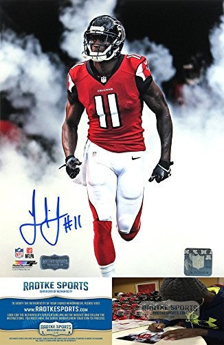 "Julio Jones Autographed/Signed Atlanta Falcons 8x10 NFL Photo ""Smoke"""