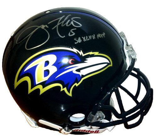 "Joe Flacco Signed Baltimore Ravens Authentic Helmet ""SB XLVII MVP"""
