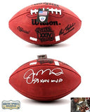 "Joe Montana Autographed/Signed San Francisco 49ers Throwback Authentic Super Bowl 24 NFL Football With ""SB XXIV MVP"" Inscription"