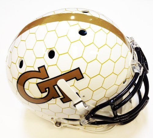 Georgia Tech HoneyComb Schutt Full Size Replica Helmet