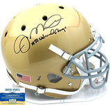 "Joe Montana Autographed/Signed Notre Dame Fighting Irish Schutt Authentic NCAA Helmet With ""1977 National Champs!"" Inscription"