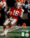 "Joe Montana Autographed/Signed San Francisco 49ers 8x10 NFL Photo ""Drop Back"""