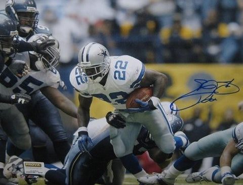 Emmitt Smith Autographed Dallas Cowboys 16x20 Photo
