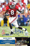 "Julio Jones Autographed/Signed Alabama Crimson Tide 8x10 NCAA Photo ""Running"""