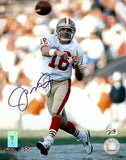 Joe Montana Autographed/Signed San Francisco 49ers 8x10 NFL Photo White Jersey