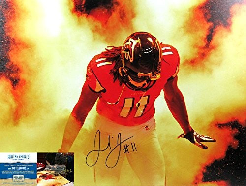 Julio Jones Autographed/Signed 24x32 Atlanta Falcons Wrapped NFL Wall Mount Canvas