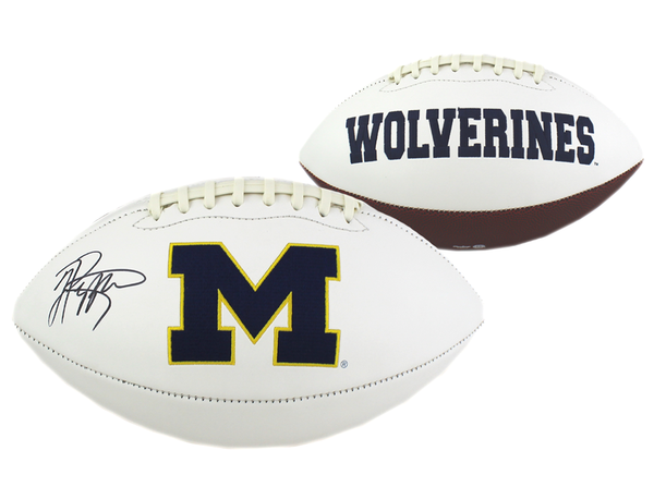 Jabrill Peppers Signed Michigan Wolverines Embroidered Football