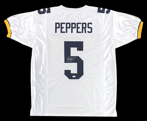 Jabrill Peppers Signed Michigan Wolverines Custom White Jersey