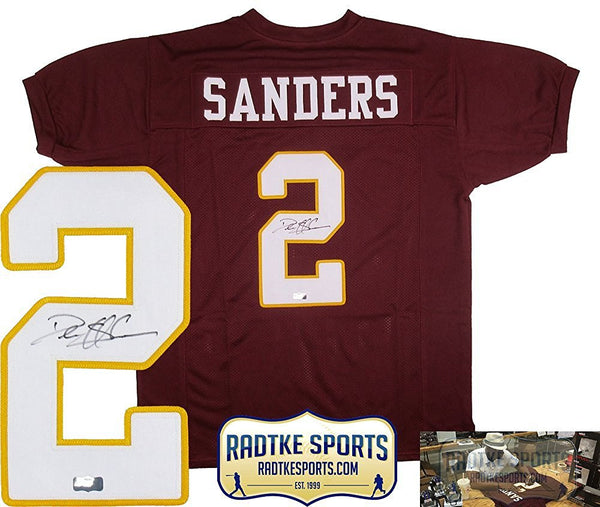 Deion Sanders Autographed/Signed Florida State Seminoles Maroon Throwback Custom Jersey