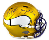 "Randy Moss Signed Minnesota Vikings Riddell Full Size NFL Blaze Helmet With ""You Got Mossed"" Inscription"
