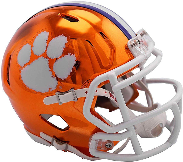 Riddell Clemson Tigers CHROME Revolution Speed Mini Football Helmet