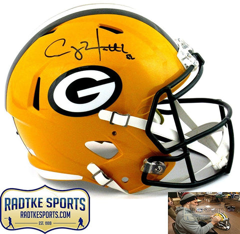 Clay Matthews Autographed/Signed Green Bay Packers Riddell Full Size Revolution Speed NFL Helmet