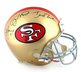 Joe Montana, Jerry Rice, & Steve Young Autographed/Signed San Francisco 49ers Throwback Riddell Authentic NFL Helmet
