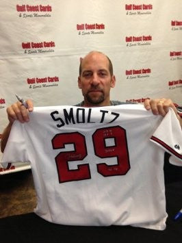 John Smoltz Signed Atlanta Braves Jersey Career Stats Limited Edition #/29