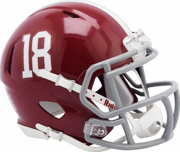 Alabama Crimson Tide #18 Riddell Speed Mini Helmet