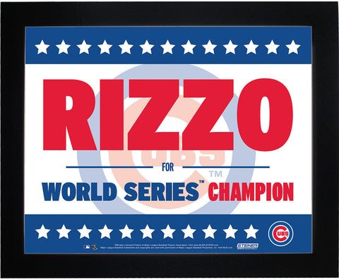 Anthony Rizzo Chicago Cubs 11x14 Framed Presidential Sign