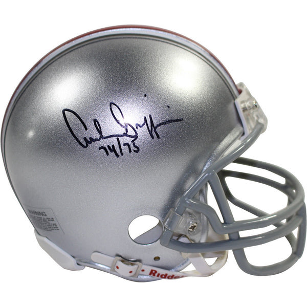 Archie Griffin Signed Ohio State Replica Mini Helmet w/ H.T 1974/75 Insc.