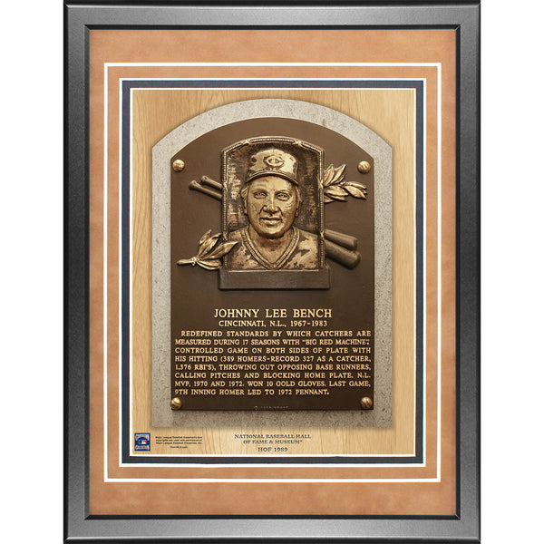 Johnny Bench 11x14 Framed Baseball Hall of Fame Plaque - Memorabilia - SPORTSCRACK