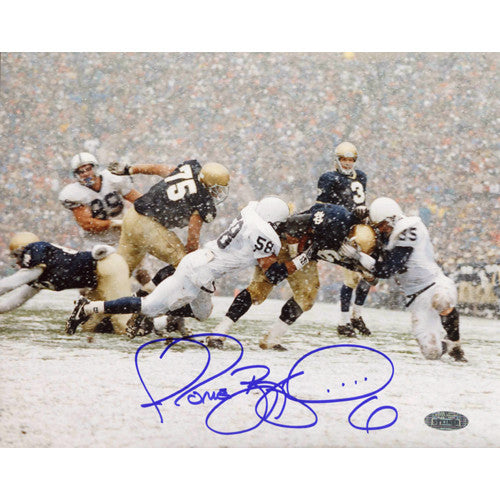 Jerome Bettis Signed Being Tackled In Snow vs. Penn State 8x10 Photo