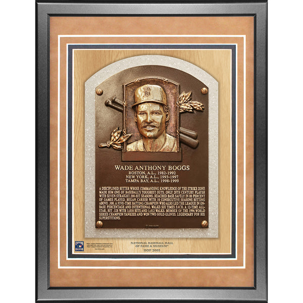 Wade Boggs 11x14 Framed Baseball Hall of Fame Plaque - Memorabilia - SPORTSCRACK