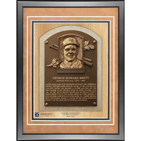 George Brett 11x14 Framed Baseball Hall of Fame Plaque - Memorabilia - SPORTSCRACK