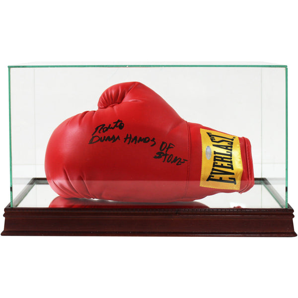 Glass Single Boxing Glove and Cleat/Shoe Display Case (o)