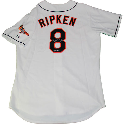CAL RIPKEN JR. SIGNED WHITE AUTHENTIC ORIOLES JERSEY (MLB AUTH)