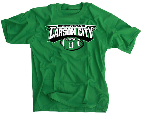CARSON City WENTZylvania Philly Football T-Shirt