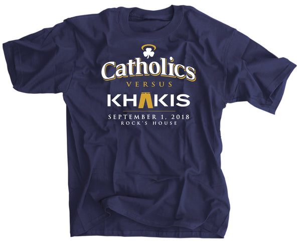 Catholics vs Khakis Notre Dame vs Michigan t shirt