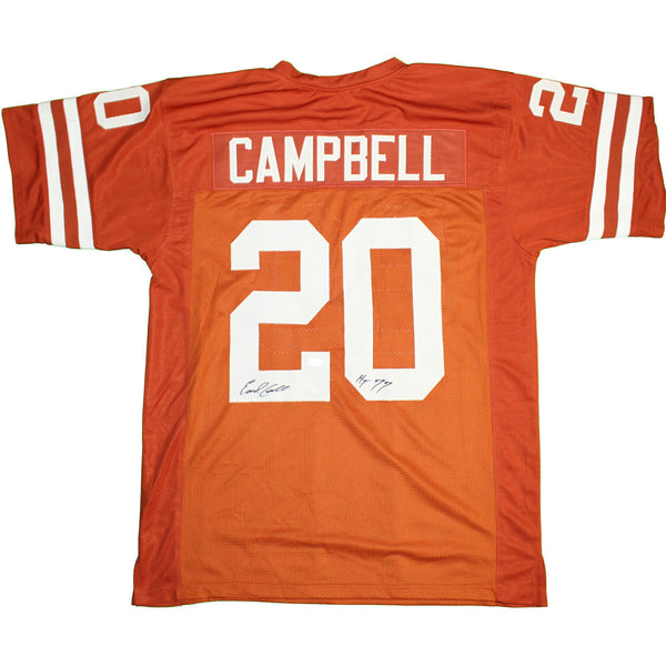 "Earl Campbell Autographed Texas Longhorns Orange Jersey Inscribed ""HT 77"" (JSA Authenticated)"
