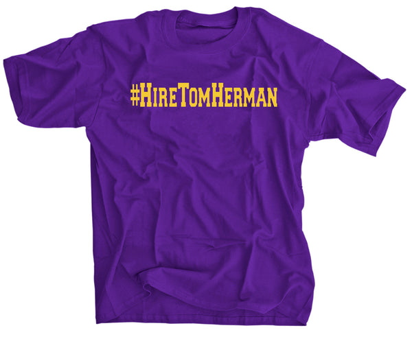 Hire Tom Herman Coach T-shirt for LSU fans