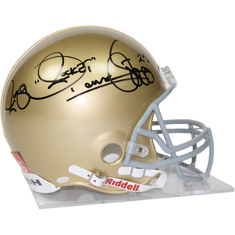 Raghib 'Rocket' Ismail Signed Notre Dame Authentic Helmet